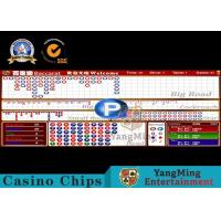 SGS Baccarat Gambling Systems Casino Standard LCD table Limit Sign Manufactures