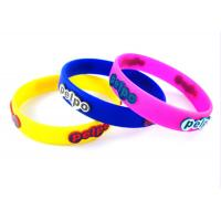 Embossed Full Color Silicone Wristbands / 150 / 180 / 200 / 202 / 220 / 240 * 12 * 2mm Manufactures