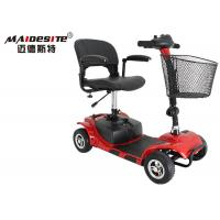 Outdoor Red Mobility Scooter / Folding Mobility Scooter 6km/Hour Max Speed Manufactures