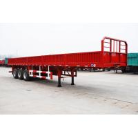 Quality tri axle flatbed trailer with grill intruck trailer with jost legs - CIMC for sale