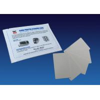 White ATM Cleaning Kit Full Textured Flocked Cleaning Card Pre Saturated With Alcohol Free Cleaner Manufactures