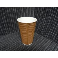 3oz -16oz Brown / Red / Orange Biodegradable Paper Cups , Disposable Paper Coffee Cup Manufactures