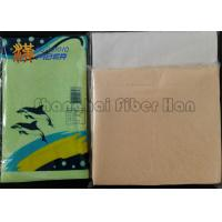 China Synthetic Antibacterial Chamois Wash Cloth , Chamois Leather For Car Cleaning on sale