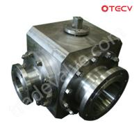 ASTM A182 Ball Valve, Three-Way, 8 Inch TECV Manufactures