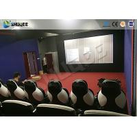 11D Movie Theater 11D Roller Coaster Simulator With Luxury Genuine Leather Seats Manufactures