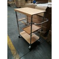 China metal/ wood kitchen carts , Shelving, Carts & Racks | Wire Shelves Wire Shelving China on sale