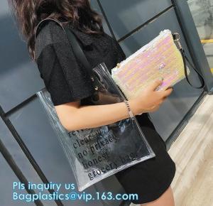 China Clear Beach Bags, Transparent PVC Toiletry , pvc shopping bag, Manufacturers pvc plastic bag pvc shopping bag with logo, on sale