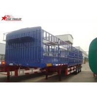 60T Roof Opened Steel Dry Van Trailer , Dry Box Trailer With Tri Axles Manufactures