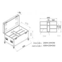 Wooden / Aluminum Tool Cases Trolley Case For Moving Head Light Case Manufactures