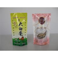 China Food Grade Stand Up Aluminum Foil Plastic Bag For Tea Packaging With Zipper Top on sale