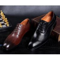 Buy cheap Fashion Men Formal Dress Shoes , Brogue Hidden High Heel Leather Footwear For Mens from wholesalers