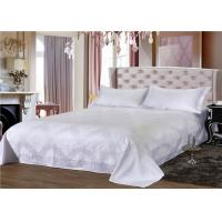 China White 250TC Jacquard And 100% Cotton Dorm Bedding Sets With Single Size on sale