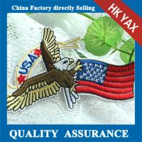 wholesale customized embroidery eagle patches for clothes Manufactures