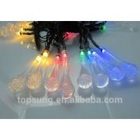 led solar lights water drop 5m 20leds colorful chiristmas lights Manufactures