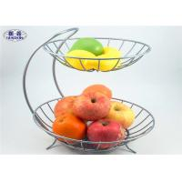 2 Tier Wire Mesh Fruit Basket Stable Corrosion Resistant Vegetable Storage Manufactures