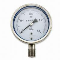 Pressure Gauge with Laminated Safety Glass Windows and Brass Movements/Connection/Bourdon Tube Manufactures