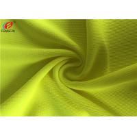China 100% Polyester Fluorescent Material Fabric Weft Knitting Dry Fit Golf Polo Shirt Fabric on sale