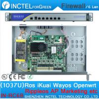 China 1037U multi gigabit network port routing Enterprise-class firewall router with Intel PCI E 1000M 6 82574L on sale