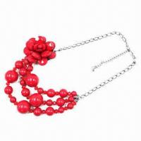 Fashion necklace, sunshine beads flower jewelry and environment protection material Manufactures