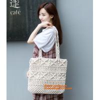 HOT! Handmade girl Summer bags Beach bag female bag rattan straw bags woven bamboo handbag Manufactures