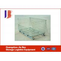 Industrial Stackable Wire Mesh Storage Cage With Square-Stack Legs For Secure Stacking Manufactures