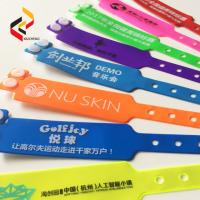 Vinyl Medical Security ID Bracelet Ticket Pulseras NFC Cashless Payment RFID Wristband Manufactures