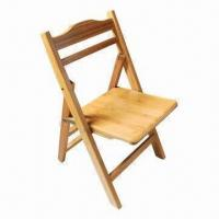 China Bamboo folding chair with carbonization color on sale