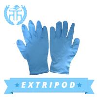 china supplier M3.5g blue nitrile gloves Manufactures
