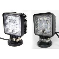 Car 6000K 27W Cree Led Driving Lights Square work lamp For ATV , UTV , SUV , BOATS Manufactures