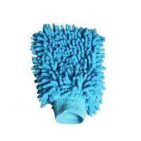 China Microfiber Silicone Cleaning Gloves , Soft Chenille Mitt Car Wash Glove on sale