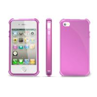 TPU Soft iPhone 4 Protective Covers and Cases Pink for Lady Use Manufactures