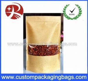 Kraft Paper Pouches Bag For Sale / Resealable Zipper Brown Kraft Paper Bag Manufactures