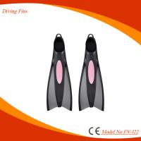 Professional Full Foot Diving Swim Fins With Extended Sole Plate Manufactures