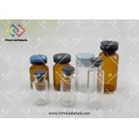 20mm 10ml Injection Vial Bottle Butyl Rubber Stopper With Flip Off Cap Manufactures