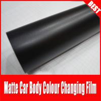 China TSAUTOP Rohs Certificate air free bubbles 1.52*30m Matte Black Car Wrap Film on sale