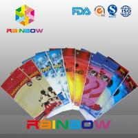 China Self Adhesive Seal Customized Printed Opp Bags With Round Hang Hole on sale