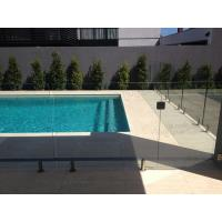 Swimming pool safety glass railing/fence with stainless steel spigots Manufactures