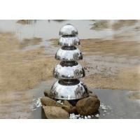 Mirror Polished Stainless Steel Water Feature Five Semicircle Design Manufactures