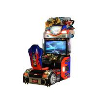 Upright Car Racing Coin Operated Game Machine For Shopping Mall Manufactures