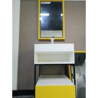 China Stainless Steel Bathroom Sink Cabinets With Stone Sink  Easy To Install on sale