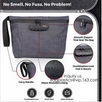 Quality Smell Proof Bag Premium Odor Proof Container/Carbon Lined Pouch Locks In Scents And Smelly Odor Great For Home Or Travel for sale