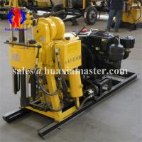 Drilling angle 90-75 degree hydraulic core drill the hoist is equipped with