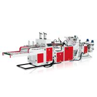 Fully Automatic Single Volume T Shirt Bag Making Machine 400mm Width Three Lines Manufactures