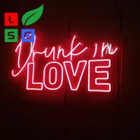 China LED Neon Light Signs Custom Clear Acrylic Backing Wedding Event on sale