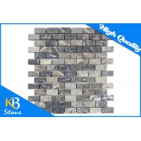 Modern Home Decoration Dark Emperador Tumbled Marble Tile Subway Pattern Mosaic Tiles Manufactures