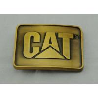Casting Pewter Custom Made Buckles Gold Plated , Cat Belt Buckle Manufactures