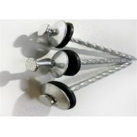 China Standrad Size Galvanized Roofing Nail With Washer , Umbrella Head Nails on sale