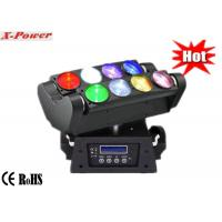8*10W Quad-color RGBW / White Led Moving Head Lights , Moving Heads Lighting   X-68A Manufactures