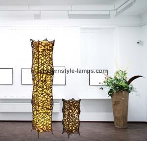 China QH F-20427 Woven Rattan Floor Lamp Modern Style 100% Handmade RoHS Certification on sale
