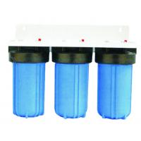 China Steel bracket  Triple Water Filter Full House Water Filtration System Optional Cartridge on sale